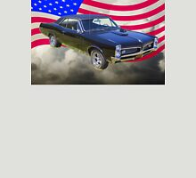 Black 1967 Pontiac GTO with American Flag Unisex T-Shirt