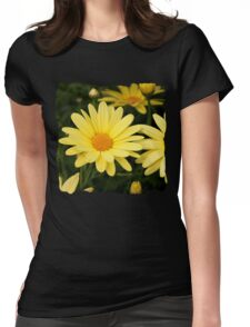 Just Call Them Mellow Yellow ~ Daisies Womens Fitted T-Shirt