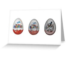 Kinder surprise chocolate egg under x-ray  Greeting Card