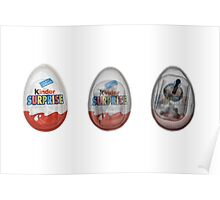 Kinder surprise chocolate egg under x-ray  Poster