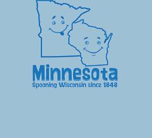 Minnesota Spooning Wisconsin Womens Fitted T-Shirt
