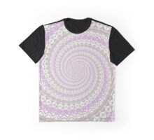 POWER SPIRAL magic hearts light pink Graphic T-Shirt