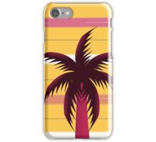 Palm tree in stripes iPhone Case/Skin
