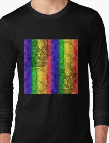 Colorburst Monkees Long Sleeve T-Shirt