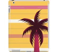 Palm tree in stripes iPad Case/Skin