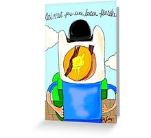 Son of Finn / Magritte Meets Adventure Time  Greeting Card