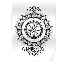 Wanderlust Compass Design Poster
