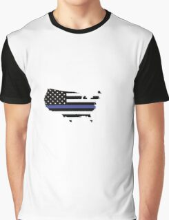 Thin Blue Line United States Graphic T-Shirt