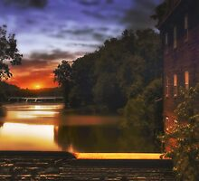 Sunset On The Dam by TOM YORK