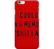 Memo Me iPhone Case/Skin