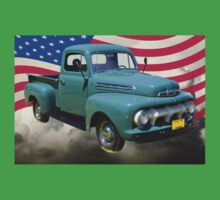 1951 ford F-1 Pickup Truck With American Flag Kids Clothes
