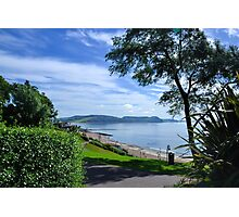 View to the Sea...........Lyme Dorset  UK Photographic Print