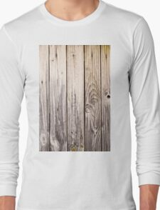 vertical view rustic wood texture old panels Long Sleeve T-Shirt