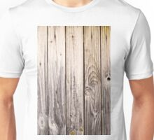 vertical view rustic wood texture old panels Unisex T-Shirt