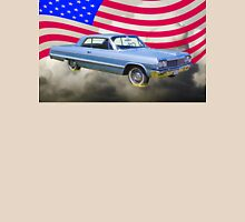 1964 Chevrolet Impala Muscle Car And American Flag Unisex T-Shirt