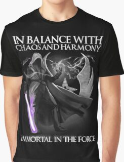 In Balance With Chaos And Harmony Immortal In The Force Graphic T-Shirt