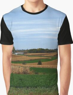 Autumn Wisconsin Farmland Graphic T-Shirt