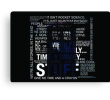 Typography Tardis Canvas Print
