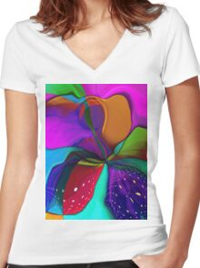 Soleil Women's Fitted V-Neck T-Shirt