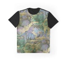 Abstract Dark Watercolor gold texture Graphic T-Shirt