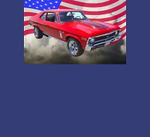 1969 Chevrolet Nova Yenko 427 With American Flag Unisex T-Shirt
