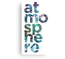 Atmosphere Word - Broken Glass Watercolor Galaxy Mosaic Canvas Print