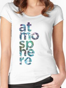 Atmosphere Word - Broken Glass Watercolor Galaxy Mosaic Women's Fitted Scoop T-Shirt