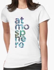 Atmosphere Word - Broken Glass Watercolor Galaxy Mosaic Womens Fitted T-Shirt