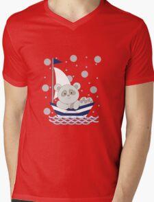 panda boat ride Mens V-Neck T-Shirt