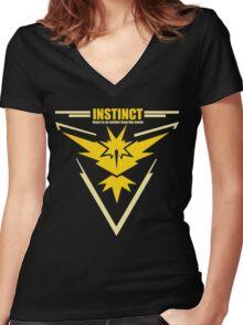 Team instinct pokemon go Women's Fitted V-Neck T-Shirt