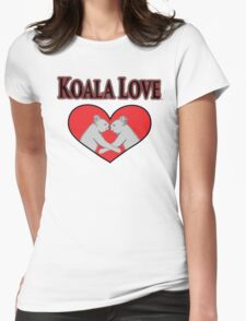 Koala Love  Womens Fitted T-Shirt