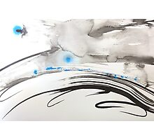 Wind Painting with Blue Photographic Print