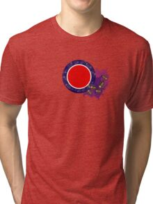 Cockroach Crawl Roundel  Tri-blend T-Shirt