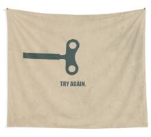 Try Again - Corporate Start-up Quotes Wall Tapestry