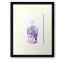 Genetically engineered to be superior. Framed Print