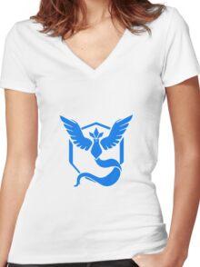Pokemon Go: Team Mystic! Women's Fitted V-Neck T-Shirt