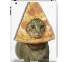 Cat with Pizza Head iPad Case/Skin