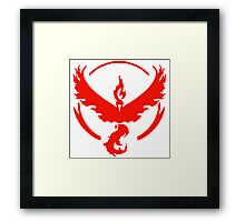 Pokemon Go: Team Valor! Framed Print