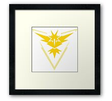 Pokemon Go: Team Instinct! Framed Print