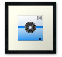 Blue camera Framed Print