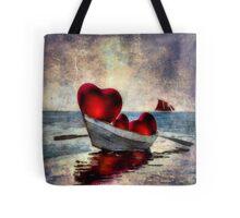 Hearts At Sea Tote Tote Bag