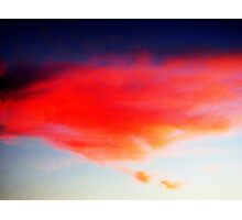 BEAUTIFUL ORANGE CLOUDS Photographic Print