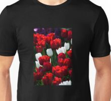 Red and White Tulips Unisex T-Shirt