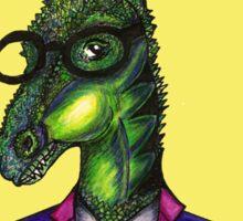 Hipster Dino Sticker