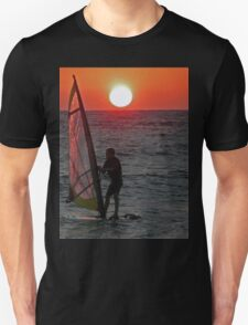 Windsurfer at sunset T-Shirt