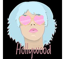 Hollywood - Blue Photographic Print