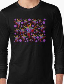 BIG MAMA colorful flower power pattern Long Sleeve T-Shirt