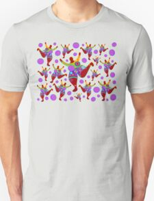 BIG MAMA colorful flower power pattern Unisex T-Shirt