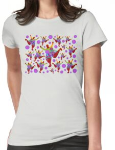 BIG MAMA colorful flower power pattern Womens Fitted T-Shirt