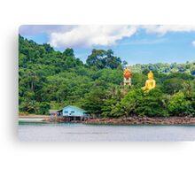 View of Baan Ao Salad port and fishing village on Koh Kood Island, Thailand Canvas Print